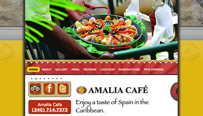 Amalia Cafe restaurant st. thomas usvi